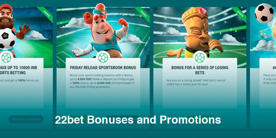 22bet bonuses