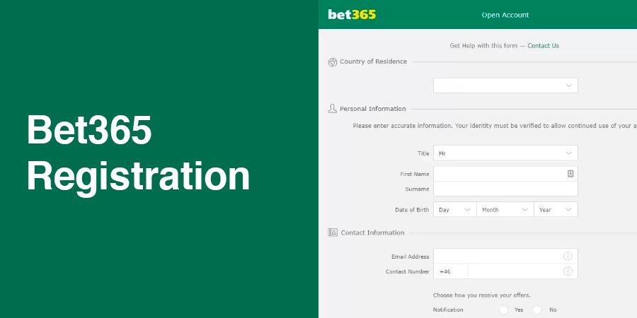 Bet365 registration