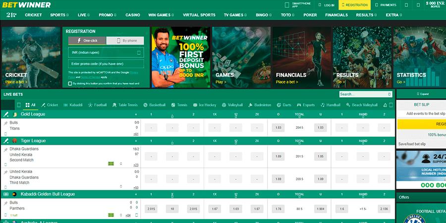 Betwinner India Website