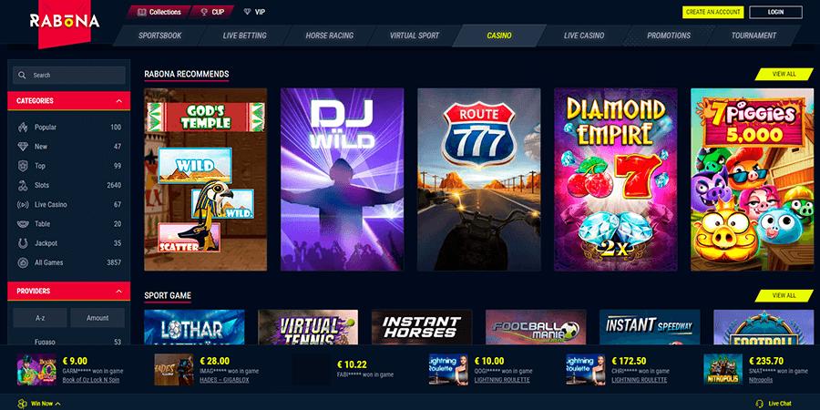 Rabona Games and Slots